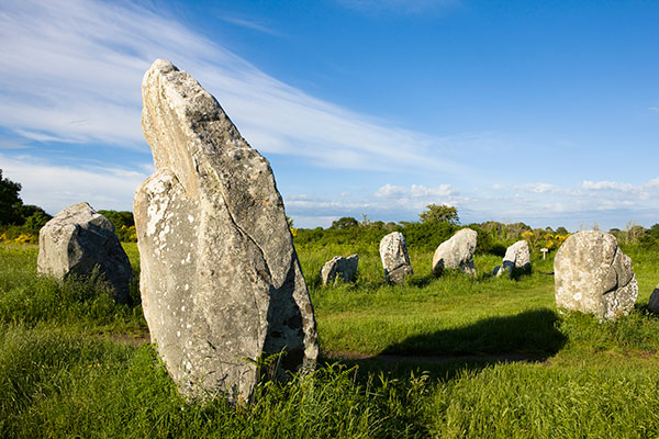 Menhirs and dolmens