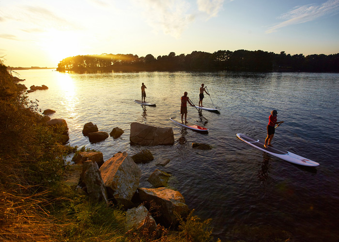 Paddle in de Golf van Morbihan © A. Lamoureux